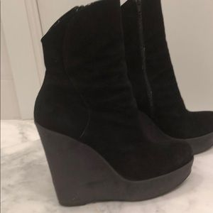 Barneys New York suede boots